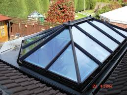 Flat Roof An Orangery Style Glass Roof Installed To A Flat Roof Extension To