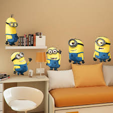 Minion Desk Accessories by 5 Minions Despicable Me Removable Wall Stickers Decal Home Decor