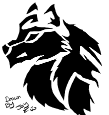 tribal wolf tattoo design digital by draconian12 on deviantart