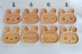 japanese wooden tableware creative children s plate meal