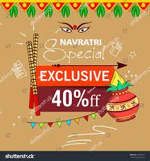 Decorate Dandiya Sticks Home by Flyer Banner Poster Design Sale Offer Stock Vector 476494741