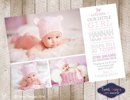 baby thank you cards birth announcement girl printable baby thank you card collage