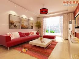 Cute Decorate Beige Living Room Design Ideas With Red Sofa And - Red sofa design ideas
