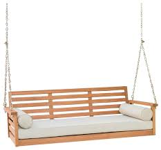 wooden porch swings build porch swing frame ginkgo leaf porch