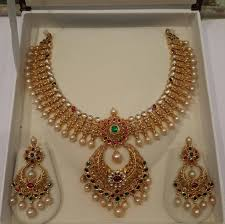gold pearl necklace sets images Gold pearl necklace set from mahalaxmi jewellers indian jewelry jpg