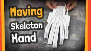 moving skeleton hand craft great for halloween party or any diy