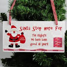 santa stop here personalised christmas sign by hope and willow