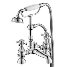 ibathuk traditional bath filler mixer tap hand held shower head ibathuk traditional bath filler mixer tap hand held shower head stand pipe set ibathuk amazon co uk diy tools