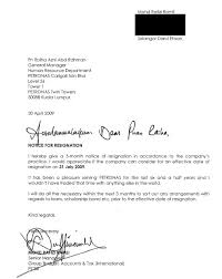 sample formal resignation letter malaysia cover letter templates
