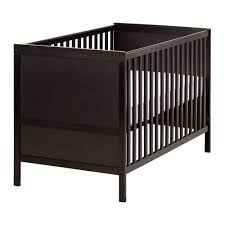Crib Mattress Base Sundvik Crib Black Brown Crib Toddler Bed And Nursery