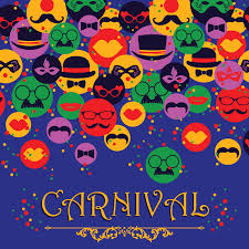 free vector celebration festive background with carnival icons and