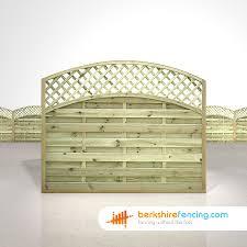 convex arched lattice top fence panels berkshire fencing