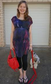 away from blue 37 weeks belted jersey dress and leggings scarf