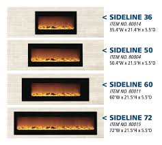 new 36 inch and 72 inch wall mount and recessed electric fireplaces