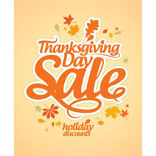 free vector happy thanksgiving day sale maple leaf pattern design