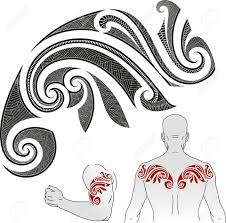 maori shoulder maori styled tattoo pattern in a shape of chameleon good for