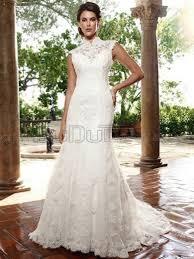 sleeveless wedding dress line high neck sleeveless sweep wedding dresses with embroider