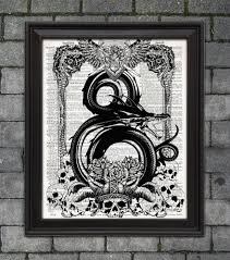 dungeons and dragons poster dragon ampersand dnd geek gift