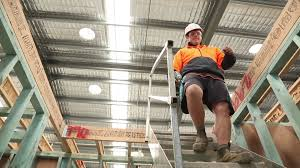 how to prevent falls on a construction site using temporary stairs
