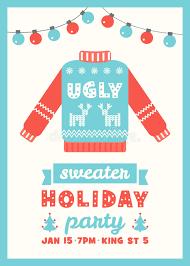 sweater invitation card stock vector image