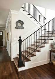 Iron Handrails For Stairs Rustic Flooring Wrought Iron Staircase Spindles Entry Way