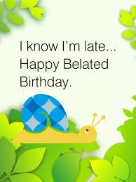happy belated birthday snail card birthday u0026 greeting cards by davia