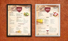 dining menu template 40 effective psd restaurant menu design templates web graphic
