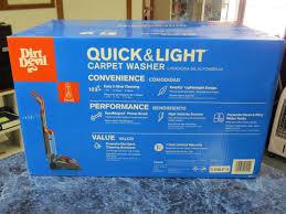dirt devil quick and light carpet cleaner devil quick light carpet washer fd50105 brand new sealed