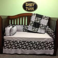 Dodgers Bed Set 4 Pc Standard Crib Bedding Set Nfl Raiders By Babytwin On Etsy
