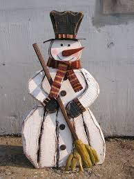 wooden snowman the aisle wooden snowman with broom figurine reviews