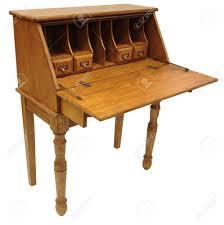 Secretary Style Desk by Country Style Light Oak Drop Lid Secretary Desk Stock Photo