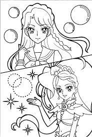 princess precure minami u003dcure mermaid anime coloring pages