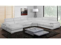 canapé panoramique en cuir canapé panoramique cuir 7 places elevanto noir ou blanc