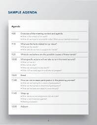 Best Meeting Agenda Template 9 tips on how to lead productive team meetings free u0026 premium