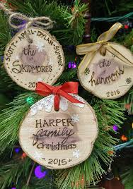 personalized ornaments easy personalized wood slice ornaments hometalk