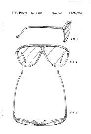 does ban luxottica a design patent on their classic