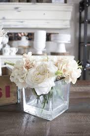 faux floral arrangements diy faux floral arrangement with water