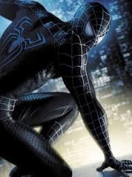 black spiderman movie costume