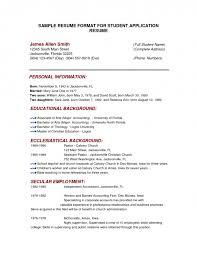 Sample Job Resume For College Student Resume Format Examples For Students Samples Of Resumes