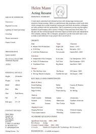 free acting resume template free acting resume template resume