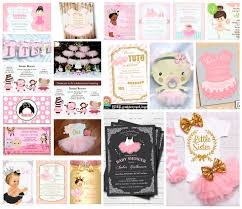 baby ballerina tutu invitations u0026 party ideas