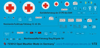 opel blitz maultier peddinghaus decals 3012 opel blitz maultier halftrack markings