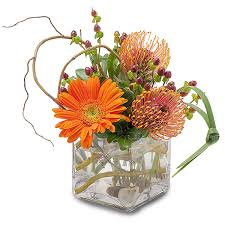 port orange florist orange rocks modern flower arrangement by jupiter s 1 florist