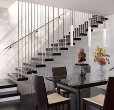 Wooden Stair Banisters Decor Winsome Contemporary Stair Railing With Brilliant Plan For