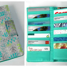 gift card organizer credit card organizer wallet gift card from mintchocolat on etsy
