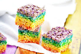 rainbow rice krispie treats the gracious