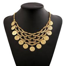 coin jewelry necklace images Find me 2018 fashion vintage long tassels statement necklace coin jpg