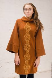 wool dress wool dress with ornament shop online on livemaster with shipping