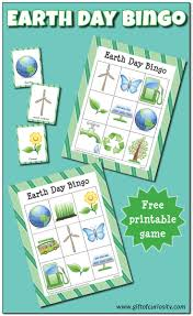 earth day bingo free printables gift of curiosity