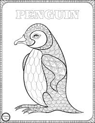 Penguin Coloring Page From Animal Coloring Pages Growing Play Penquin Coloring Pages